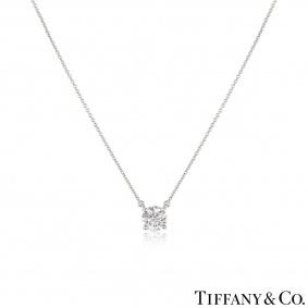 Tiffany & Co. Platinum Diamond Pendant 1.29ct H/VS1 XXX